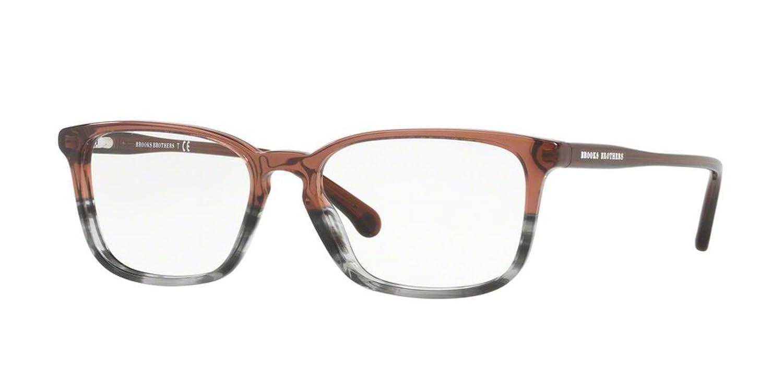 BROOKS BROTHERS Eyeglasses BB2036 6129 Cordovan Grey Horn Gradient