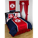 MLB Boston Red Sox Baseball Team 5pc Queen Bedding Set