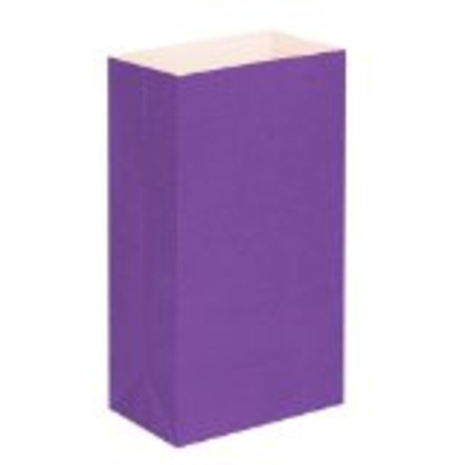 CC Home Furnishings Pack of 100 Traditional Purple Relay for Life Luminaria Bags 11''