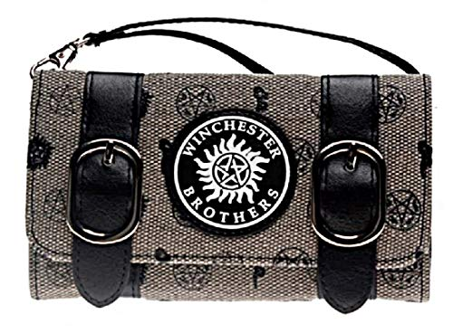 Price comparison product image Supernatural Winchester Brothers Trifold Satchel Fold Womens Hand Purse Clutch Wallet