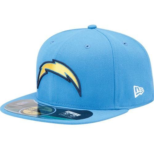 13666d8d4ead21 Amazon.com : NFL Mens San Diego Chargers On Field 5950 Powder Cap By New Era  : Sports Fan Baseball Caps : Clothing