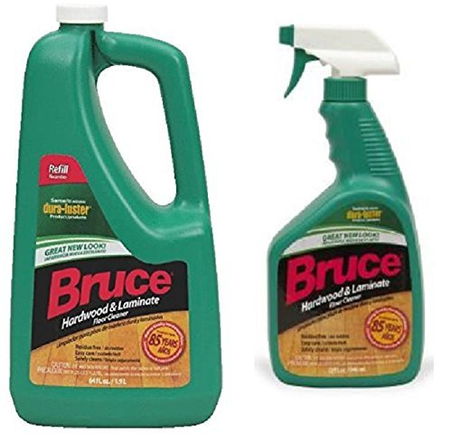 Bruce 64 oz+32oz NoWax Hardwood and Laminate Floor Cleaner Value Pack (Best Way To Clean Bruce Hardwood Floors)