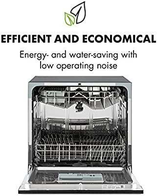 Klarstein Amazonia 8 Lavavajillas - Diseño compacto, Clase energética A+, 6 programas lavado, 2 cestos extraibles, 1620 W, Acero inoxidable, Modo eco, ...