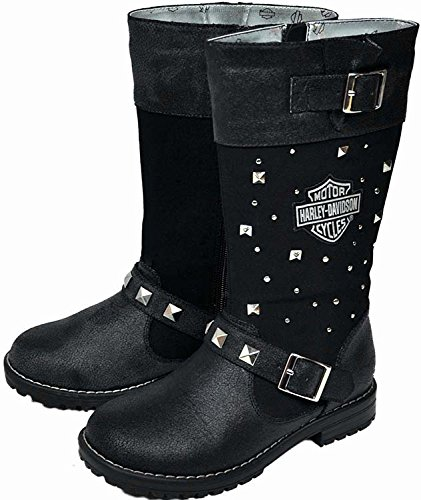 Harley-Davidson Girls' Studded Biker Boots - 3335146 (12) (Boots Biker Studded)