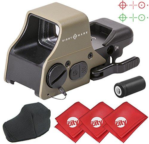 Circuit City Sightmark Ultra Shot Plus Reflex Dark Earth Red/Green Dot Rifle Sight with 3 Microfiber Cleaning Cloths (SM26008DE) ()