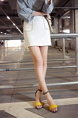 de Salvaje con DIDIDD de de 38 Femenino Alto UN Sandalias Zapatos Verano Forma una Sandalias Tacón de Palabra BW0qrO0FxX