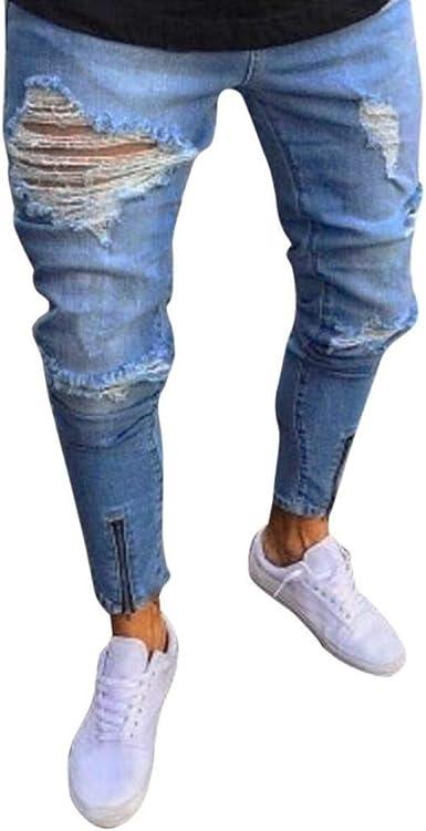 Pantalones De Hombre Pantalones Vaqueros Con Cremallera De De Unico Hombre Los Hombres Pantalones De Vestir De Pitillo Pitillo De Pitillo Pantalones De Vestir De Pitillo Pitillo De Fashiom Streetwear Amazon Es Ropa