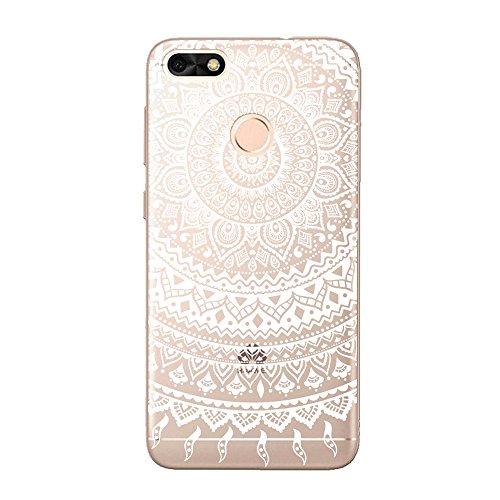 Funda Huawei Enjoy 7,EUDTH Suave TPU Gel Funda Case Delgado Silicona Fundas Carcasa Espalda para Huawei Enjoy 7 (5.0 Pulgadas) Algún día Datura blanca