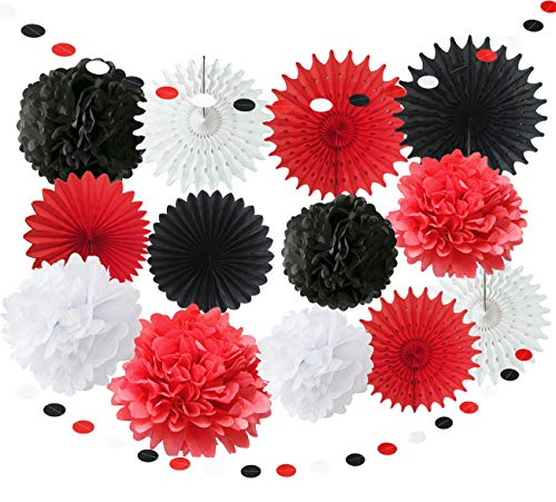 Red Minnie Mouse Party Supplies White Black Baby Ladybug Happy