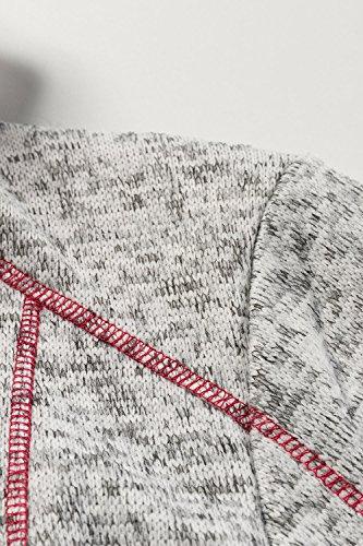 Ulla Women's Melange Popken Grey Strickfleece Cardigan CCqZwrS