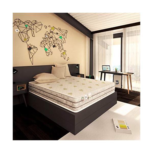 Baldiflex Materasso Memory Easy Super Top Matrimoniale con Rivestimento in Aloe Vera, Misura 160x190x23 cm 6 spesavip