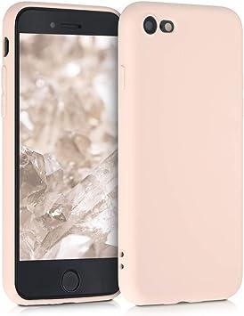 Image ofkwmobile Funda Compatible con Apple iPhone 7/8 / SE (2020) - Carcasa de TPU Silicona - Protector Trasero en nácar