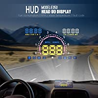 Universal 5.8 Car HUD Head Up Display With OBD2 EUOBD Interface Speeding Warning