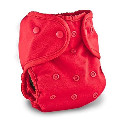 Buttons Cloth Diaper Cover - One Size (Cherry) by Buttons Diapers
