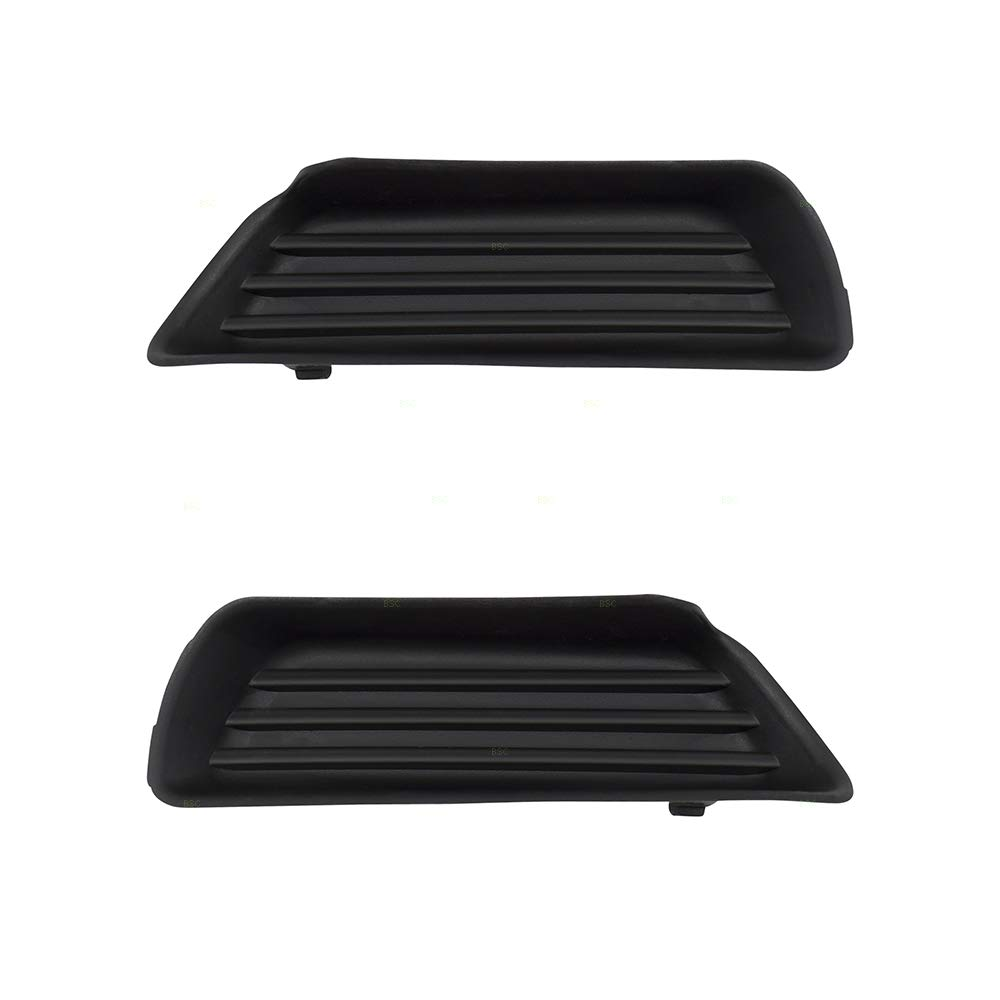 BROCK Pair Set Front Bumper Grille Fog Lamp Hole Opening Covers Replacement for 07-09 Toyota Camry w/o fog lamps 5212806050 5212706050