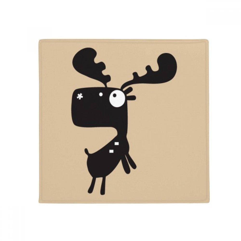 DIYthinker Cartoon Deer Animal Anti-Slip Floor Pet Mat Square Home Kitchen Door 80Cm Gift