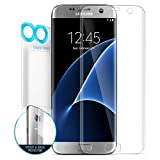 Galaxy S7 Edge Screen Protector, Maxboost [Liquid Skin] Samsung Galaxy S7 Edge Screen Protector [Ultra Soft Film] [Curved Surface Adhere] Edge to Edge Front+Back Film and Case Compatible Front Film