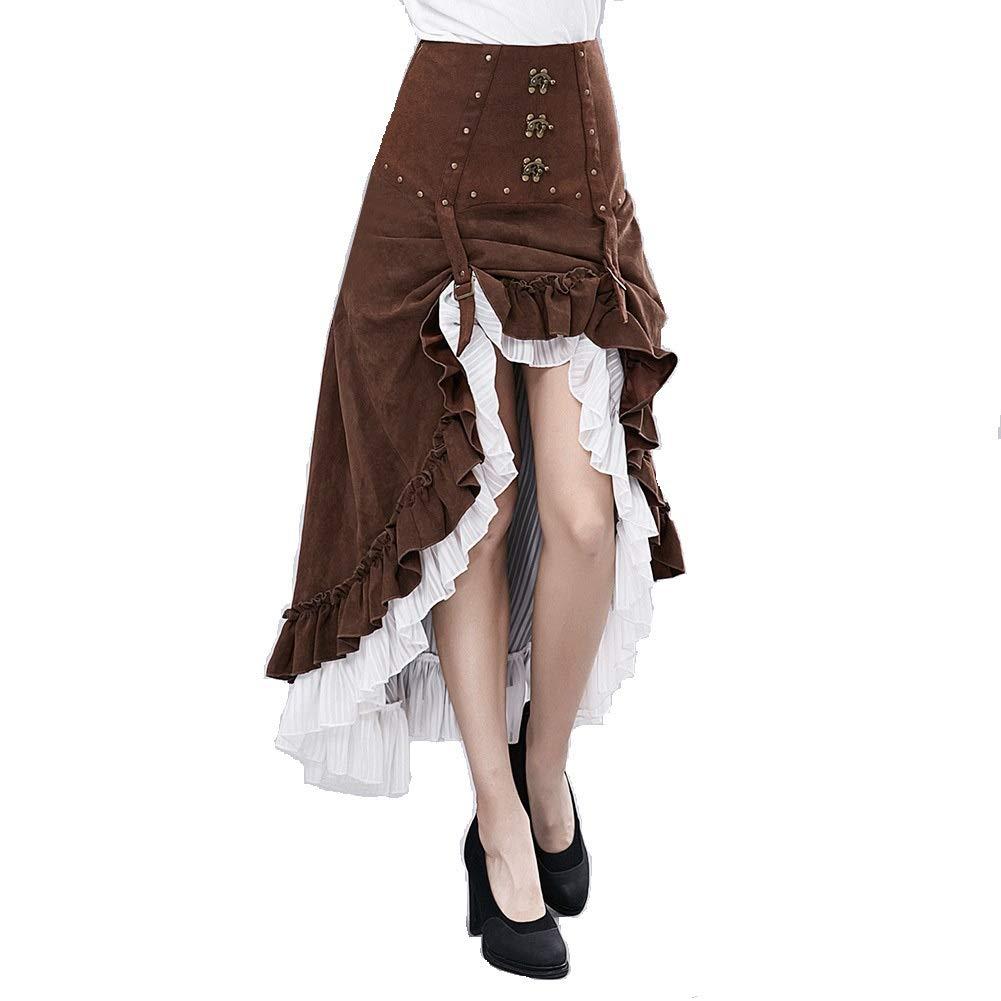 Scotch Painter's Tape Steampunk Victoria Gothic Punk Vampire Show Girl Dress, Women's Skirt Black Lace, Party Dress Steampunk Costume, Women's Gothic Steampunk Vintage Dress, (Size : S)