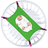 Taylor Gre Newborn Baby Crib Hammock, Bassinet Hammocks Bed,Durable Material,Adjustable Straps(Green)