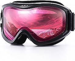 Juli OTG Ski Goggles-Over Glasses Ski/Snowboard Goggles for Men, Women & Youth - 100% UV Protection Anti-Fog Dual Lens