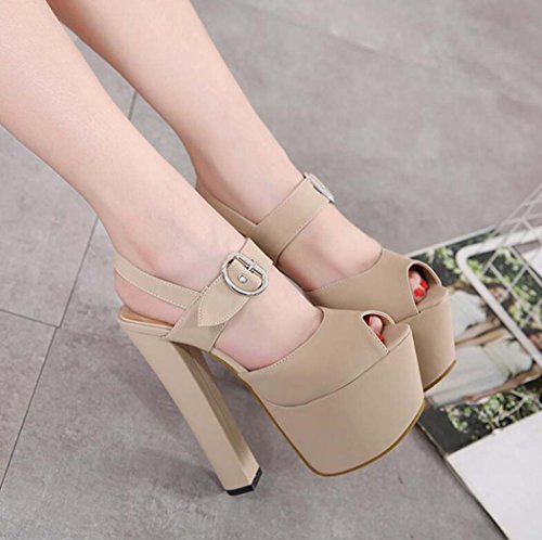 Zapatos Peep Mujer de de Sandalias Tac Toe dgqIwvv