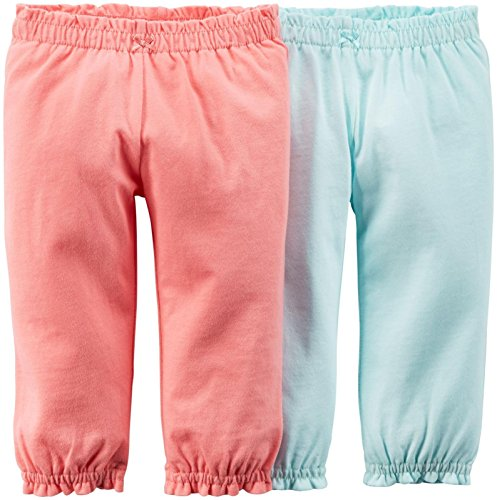 - Carter's Baby Girls' 2 Pack Pants (Baby) - Pink/Blue - 3M