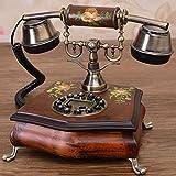 Hyun times European Phone Hand - Painted Pattern Phone Antique Phone Vintage Classical Living Room Floor Machine