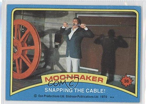Snapping the cable! COMC REVIEWED Good to VG-EX (Trading Card) 1979 Topps James Bond: Moonraker - [Base] #36 ()