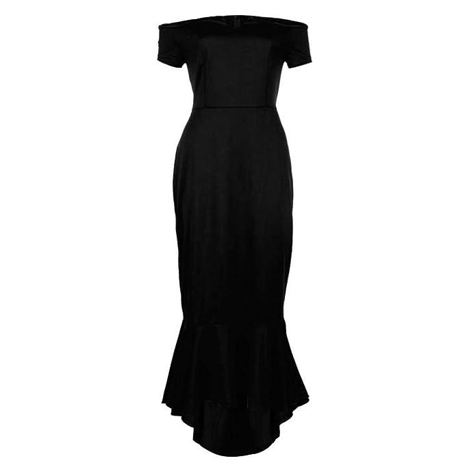1f71b7d8d713 TUDUZ Womens Midi Dresses Off The Shoulder High Low Bodycon Mermaid Evening  Party Dress  Amazon.co.uk  Clothing