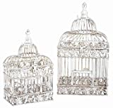 UMA Enterprises 82676 2-Piece Metal Square Bird Cage Set, My Pet Supplies