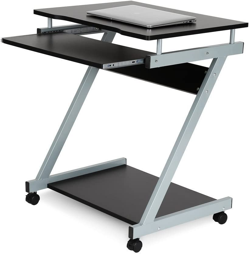 HOMFA Ordenador de escritorio con 4 ruedas movibles, teclado ...