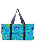 N. Gil All Purpose Open Top 23'' Classic Extra Large Utility Tote Bag (Dinosaur)