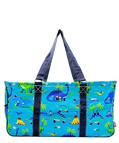 N. Gil All Purpose Open Top 23'' Classic Extra Large Utility Tote Bag (Dinosaur) by N.Gil
