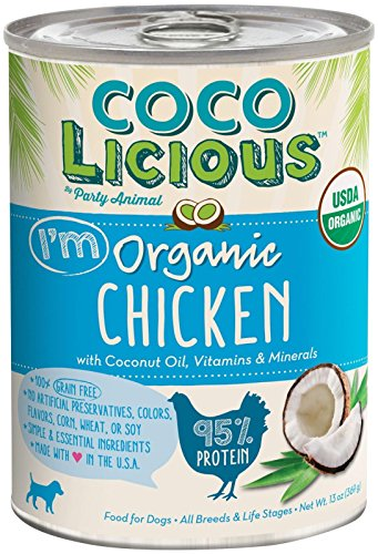 Party Animal Cocolicious 95% Organic Chicken, 13 Ounce Can (Pack of 12) by Party Animal