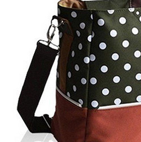 Elegante gran capacidad separados multifuncional hombro portátil diagonal paquete, rosso verde