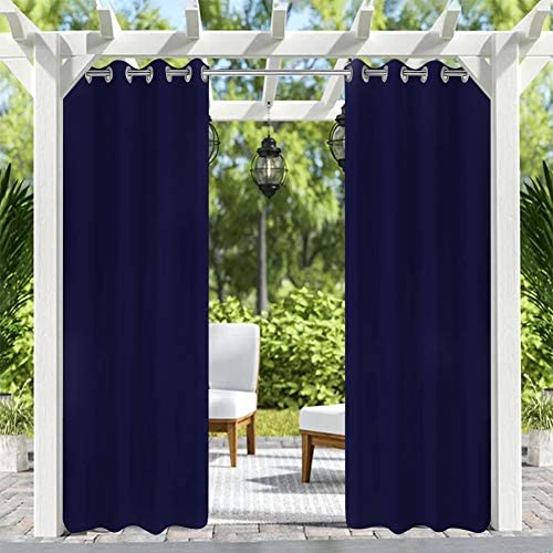 Pro Space Patio Outdoor Curtain UV Privacy Drape Thick Waterproof Fabric Heavy Duty Indoor Panel