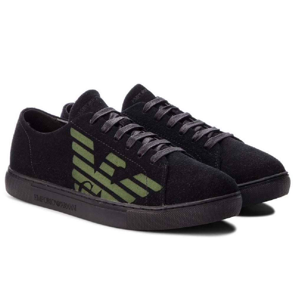 df263d6350 Emporio Armani DI Giorgio Armani Sneakers Men Black 43M: Amazon.co ...