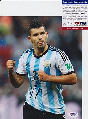 Sergio Aguero Argentina Manchester City Autographed Autograph 8X10 Photo Psa/Dna - Online Shop Argentina