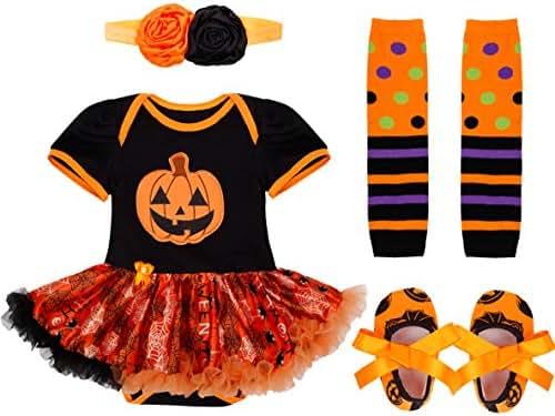 YiZYiF Baby Infant Girls 1st Christmas Costume Tutu Romper Dress Outfits Set