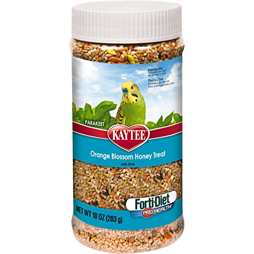 Kaytee Forti Diet Pro Health Orange Blossom Honey Bird Treats for Parakeets, 10-Ounce