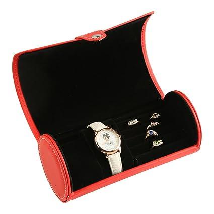 Cajas de joyería decorativas,Redonda Caja de almacenamiento Piel Joyería Joyas Clasificación Regalo] Paquete