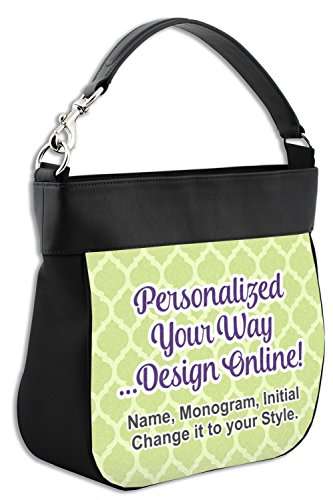 Front Trim amp; Personalized Hobo Purse w Genuine Back Leather BOU4YB