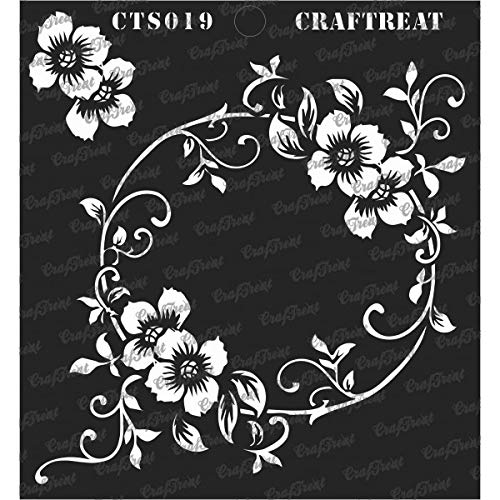Intricate Wood - CrafTreat Stencil - Flourish Circle | Reusable Painting Template for Journal, Notebook, Home Decor, Crafting, DIY Albums, Scrapbook and Printing on Paper, Floor, Wall, Tile, Fabric, Wood 6