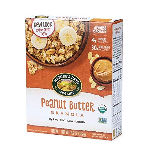 Nature's Path Peanut Butter Granola, Healthy, Organic, 11.5-Ounce Box (Pack of 6) - Whole Natures Grain Path
