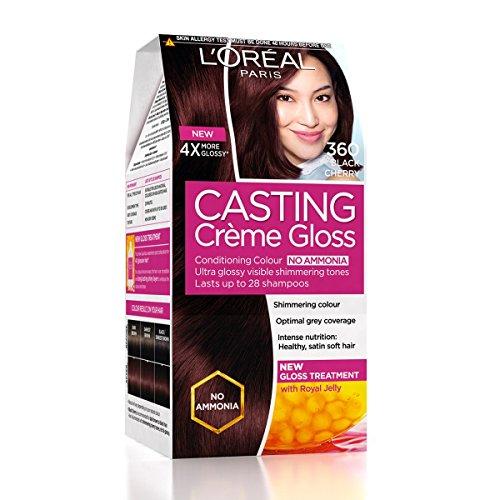 Cherry Black Gloss - L'Oreal Paris Casting Creme Gloss, Black Cherry 360, 87.5g+72ml
