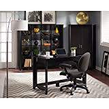 Aero Writing Desk with 16 Cube Bookcase and Tall Storage Cabinet