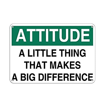 amazon com personalized metal signs attitude little thing makes