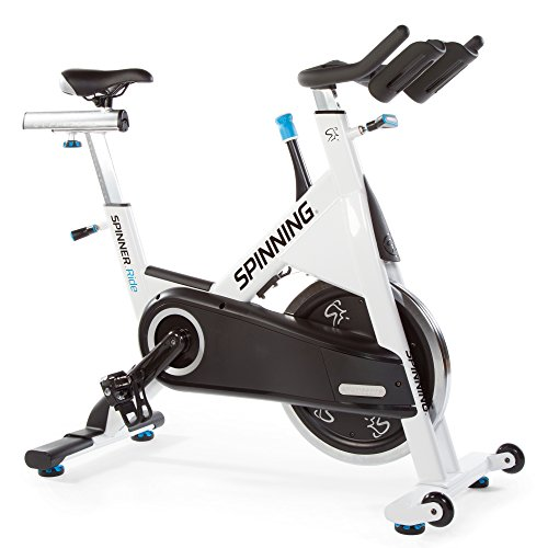 Spinning Ride Indoor Cycling Bike with Chain Drive, White