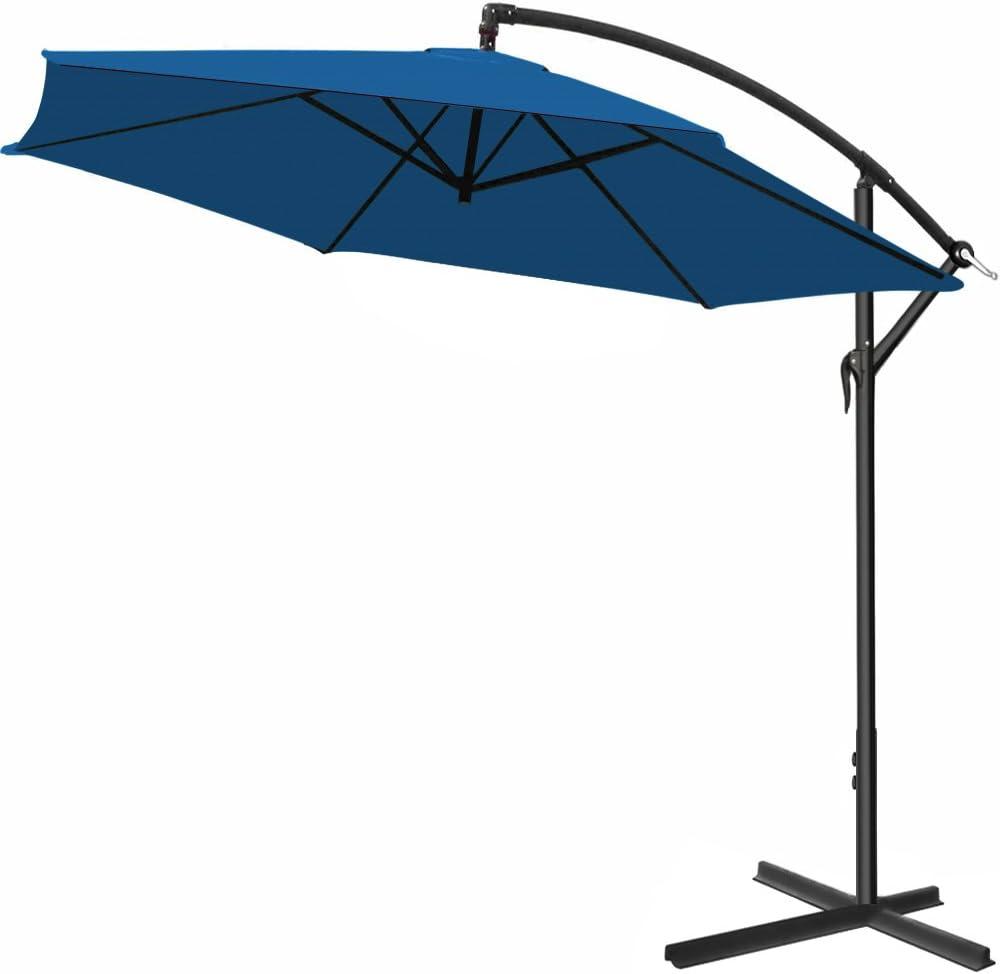 /Ø 330cm Bleu Deuba Parasol en alu Jardin terrasse Balcon Pare Soleil Manivelle