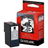 Genuine Lexmark #23/18C1523 Black Ink Cartridge in Genuine Original Factory Sealed Plastic Packaging